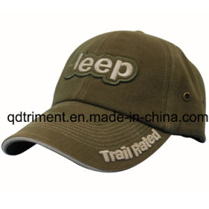 High Quality Embroidery Brushed Cotton Twill Sport Baseball Cap (TRB059) pictures & photos