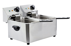 Two Tank Stainless Steel Electric Deep Fryer pictures & photos
