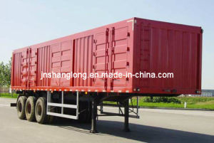3 Axles Transport Semi-Trailer/Box Semi Trailer pictures & photos