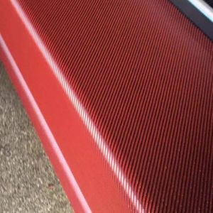 3k 200g Red Color Twill Wovening Carbon Fabric