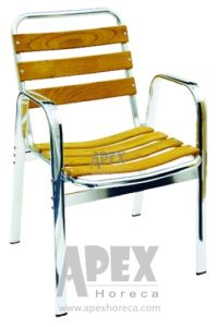 Aluminium Teak Chair Outdoor Furniture Wood Arm Chair (AS1006AW) pictures & photos