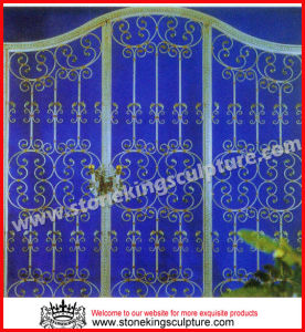 Wrought Iron Single Gate (SK-5599) pictures & photos