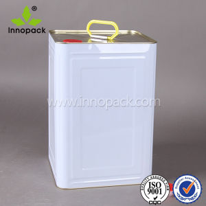 1 Gallon 4L Retangle Metal Oil Tin with Plastic Pull up Spout Cap pictures & photos