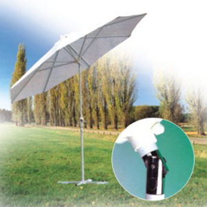 Patio Garden Umbrella with White Color and Tiltable (OCT-AU002) pictures & photos