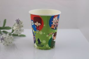 Cheap Single Wall Disposable Brewed Coffee Paper Cup with Handle for Hot Drinking pictures & photos