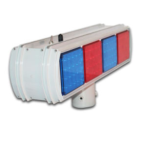 Dual Sides Red Blue Module Traffic Warning Solar Flasing Light pictures & photos