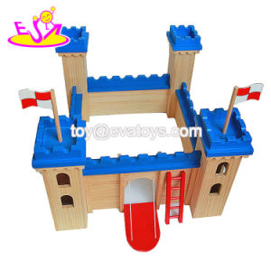 New Hottest Children Creative Buildings Wooden Toy Castle for Kids W06A257 pictures & photos