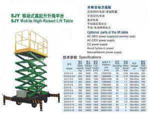 Lift Table, 500kgs Work Platform pictures & photos