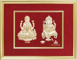 Hindu Mythological Gods-Laxmi & Ganesha (KS13-3DID-03C) for Decoration