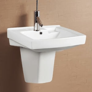 Basin With Semi Pedestal ON-0518