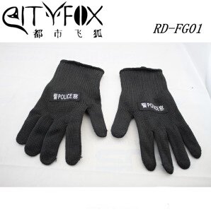 Safety Military Police Anti-Cutting Black Kevlar Gloves pictures & photos