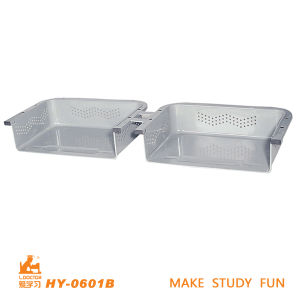 Double School Desk Steel Box School Furniture Accessories pictures & photos
