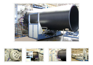 HDPE Large Diameter Hollow Wall Winding Pipe Production Line (SKRG1800-3000)