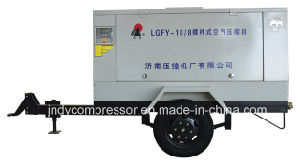 Portable Diesel Driven Screw Air Compressor pictures & photos
