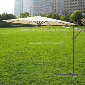 Cantilever Patio Umbrella with Beige Color (OCT-AU007) pictures & photos