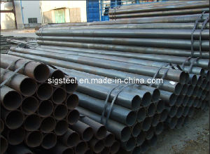 ASTM A53 ERW Black Round Steel Pipe Tube pictures & photos