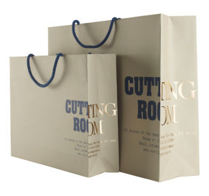 Eco Friendly Custom Printed Foil Shopping Gift Paper Bag with Logo Print pictures & photos
