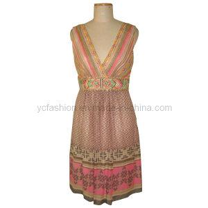Ladies Silk Dress (yc01)