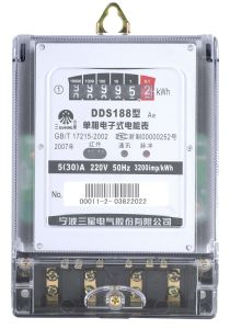 Single-Phase Static Meter (Electronic Meter, Static Meter)