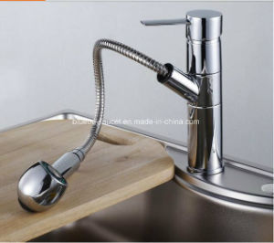 Hot and Cold Pull out kitchen Tap Brass Kitchen Sink Faucet pictures & photos