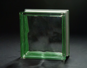 190*190*80mm Green Side-Colored Cloudy Glass Block pictures & photos