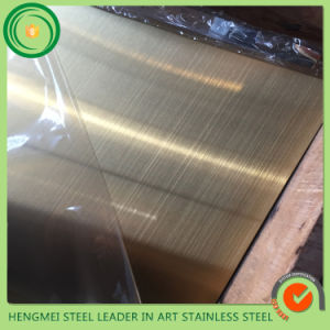 PVD Color Brushed Stainless Steel Sheet Plate for Kitchen Equipment pictures & photos