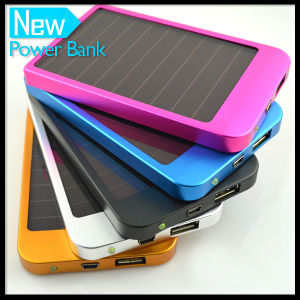 Portable 1500mAh / 2600mAh Solar Power Bank Charger Mobile Battery pictures & photos
