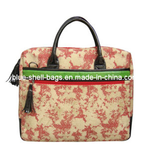 Lady Canvas Laptop Bags/Lady Messenger Bags with Printing pictures & photos