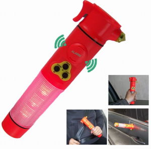 Car Safety Hammer With Siren for Emergency (23A)