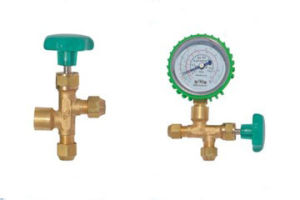Three-Way Valve Air Conditioner Valve with Manometer 01