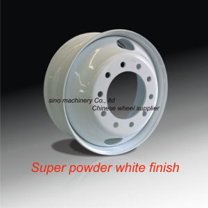 Truck Wheel/ White Finish/22.5x8.25 or 24.5x8.25 pictures & photos