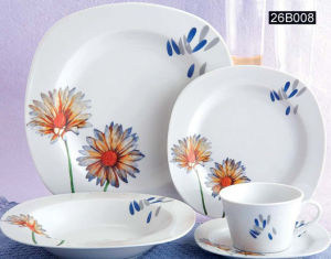 20PCS Porcelain Square Dinner Set (SET26B008)