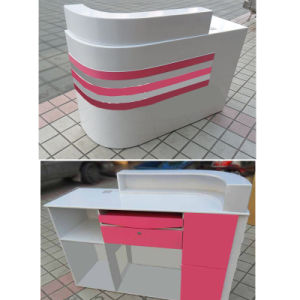 Pink Grain Arc-Shaped Cashier Counter