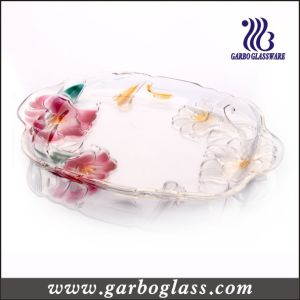 Lily Glass Plate (GB1730LB/PDS) pictures & photos