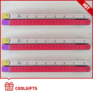 Colorful 1.6m 8 Folds Wooden Folding Ruler for Promotional Gift pictures & photos