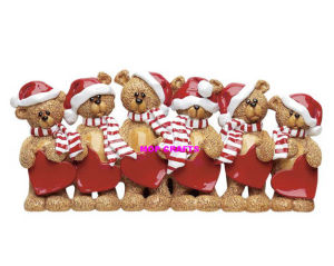 Polyresin Personalized Table Top Ornament of Bear Family pictures & photos