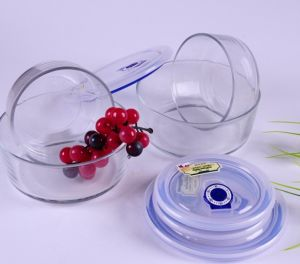 High Borosilicate/Pyrex Glass Salad Bowl Set with PP Lid pictures & photos