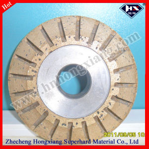 Peripheral Segmented Diamond Grinding V Wheel pictures & photos