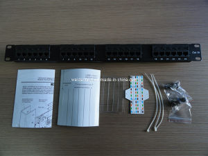 "1u 24port UTP Cat5e Patch Panel 19"" Inch (WD6A-001) pictures & photos"