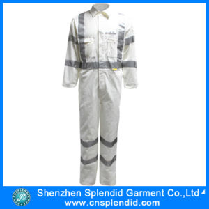 Wholesale Hi Vis Workwear Cotton Protective Safety Coverall for Men