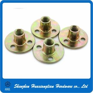 Custom Brad Hole Round Base Plate Nut for Furniture pictures & photos
