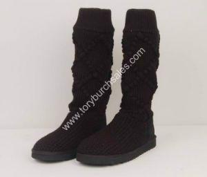 Women Classic Argyle Knit Snow Boot (5879)