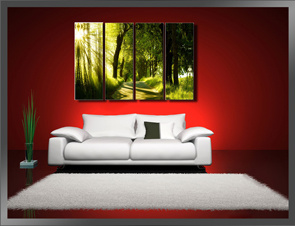 Cheap Price Landscape Canvas Printing / Wall Art Canvas Paints