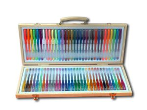 Gel Pen Set with Wooden Box Packing (306-64MH)