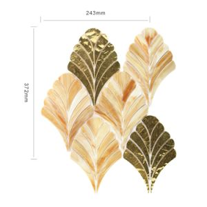New Design Home Kitchen Decoration Gold Art Glass Mosaic Tiles pictures & photos