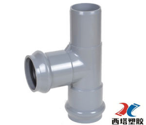 Hot Sale PVC Two Faucet and One Insert Regular Tee pictures & photos