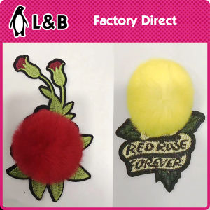 Colored Flower Iron on Applique Patches pictures & photos