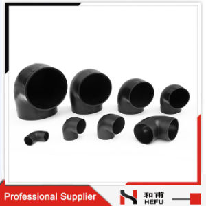 Standard Plastic Black Welded Drainage Water Pipe Elbow pictures & photos