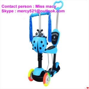 Children Kick Scooter with Pedal Foot Pedal Kick Scooter Wholesalers pictures & photos