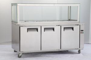 3 Door Stainless Steel Pizza Table Undercounter Freezer pictures & photos